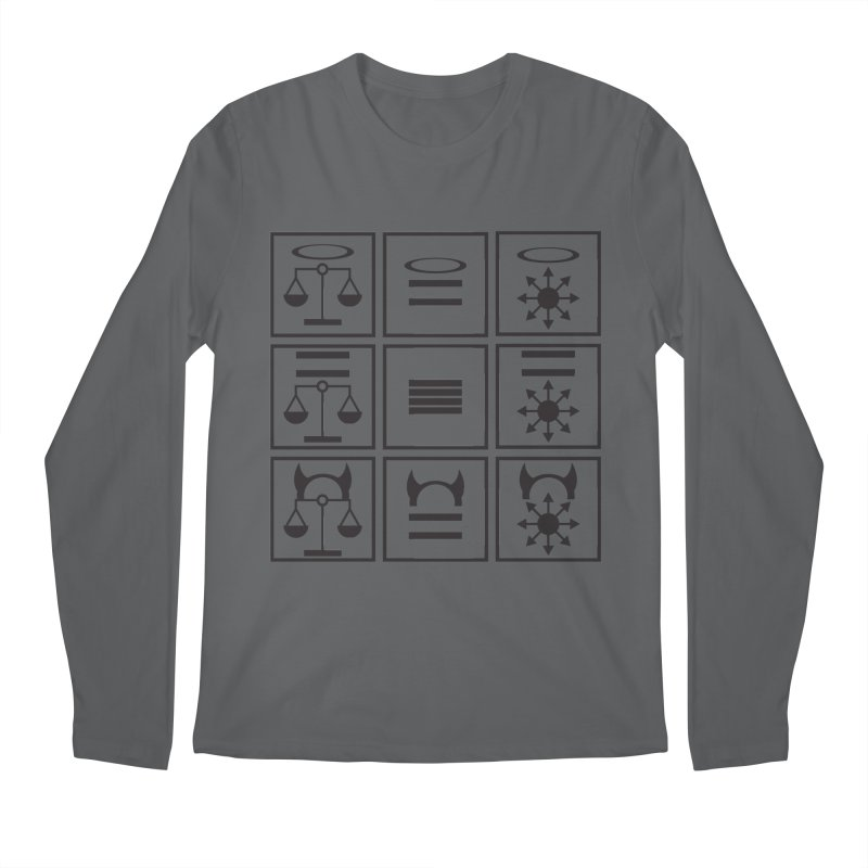 Alignment Chart: Black Men's Regular Longsleeve T-Shirt by JordanaHeney Illustration