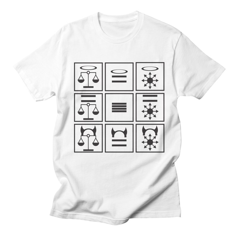 Alignment Chart: Black Women's Regular Unisex T-Shirt by JordanaHeney Illustration