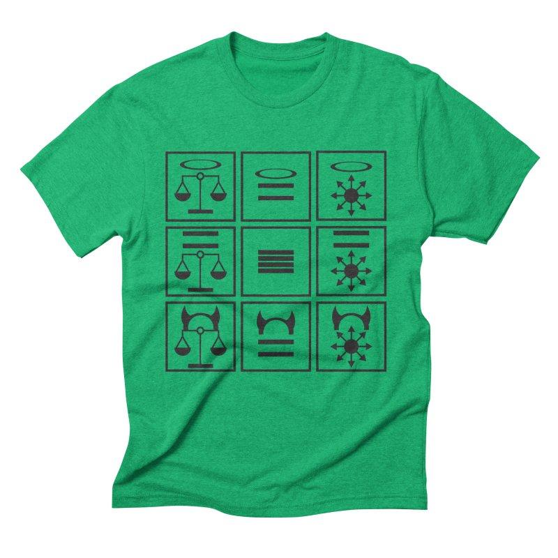 Alignment Chart: Black Men's Triblend T-Shirt by JordanaHeney Illustration
