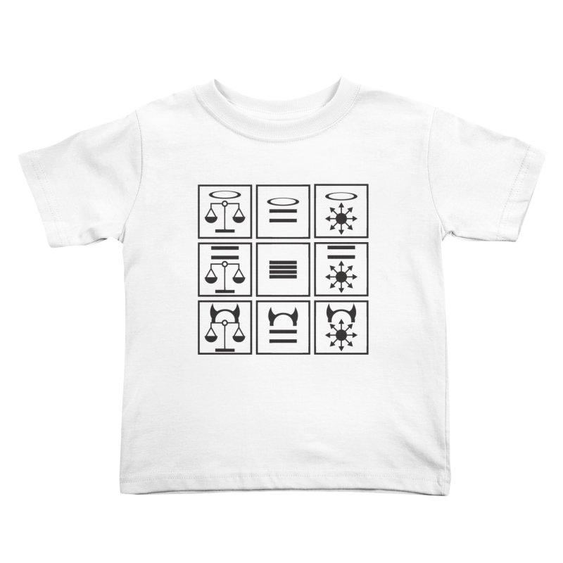 Alignment Chart: Black Kids Toddler T-Shirt by JordanaHeney Illustration