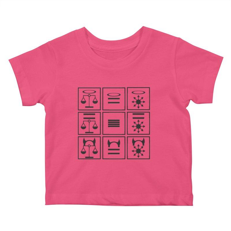 Alignment Chart: Black Kids Baby T-Shirt by JordanaHeney Illustration