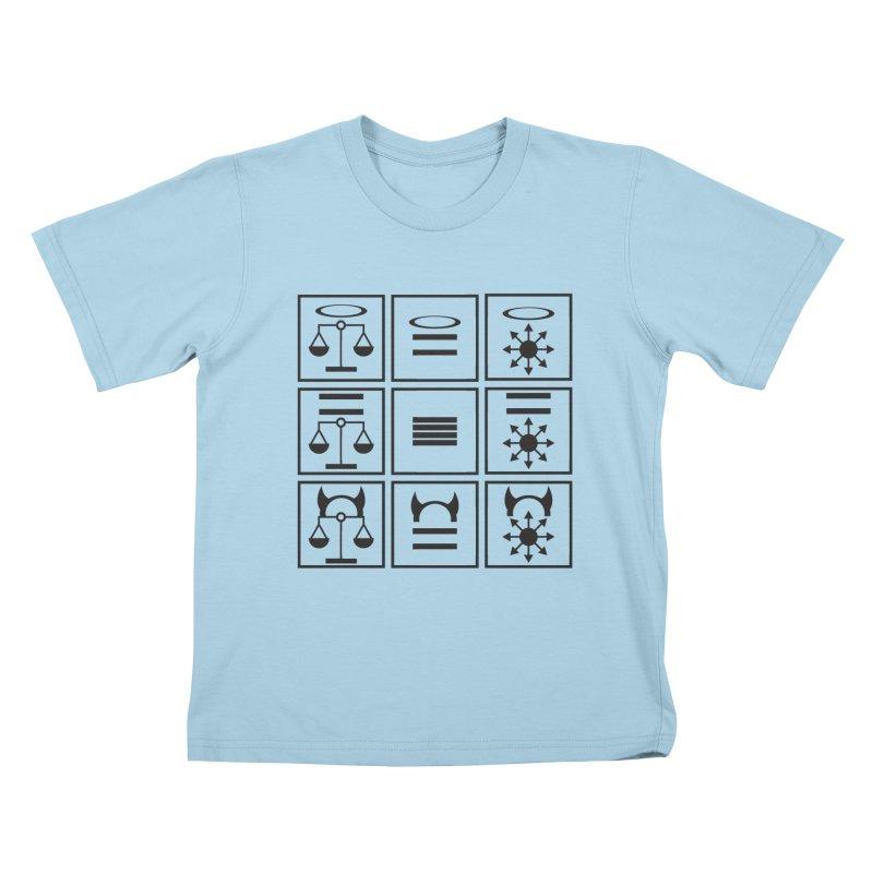 Alignment Chart: Black Kids T-Shirt by JordanaHeney Illustration