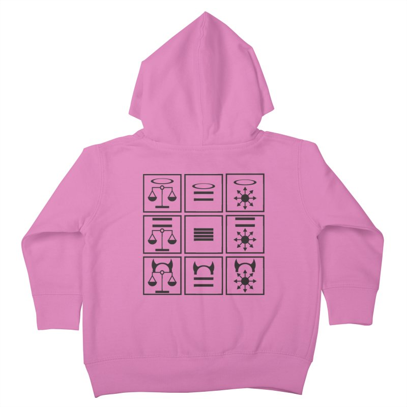 Alignment Chart: Black Kids Toddler Zip-Up Hoody by JordanaHeney Illustration