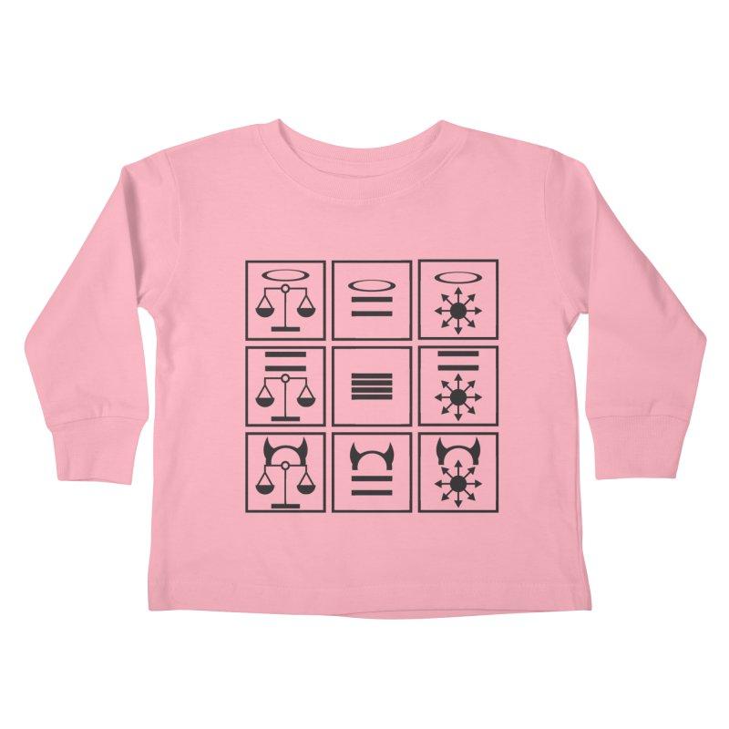 Alignment Chart: Black Kids Toddler Longsleeve T-Shirt by JordanaHeney Illustration