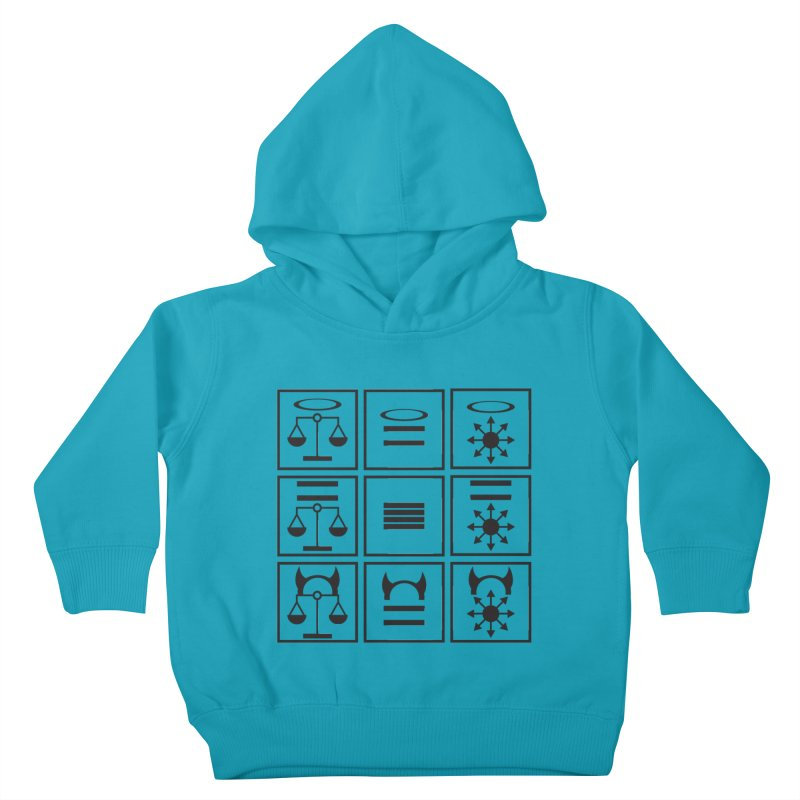 Alignment Chart: Black Kids Toddler Pullover Hoody by JordanaHeney Illustration