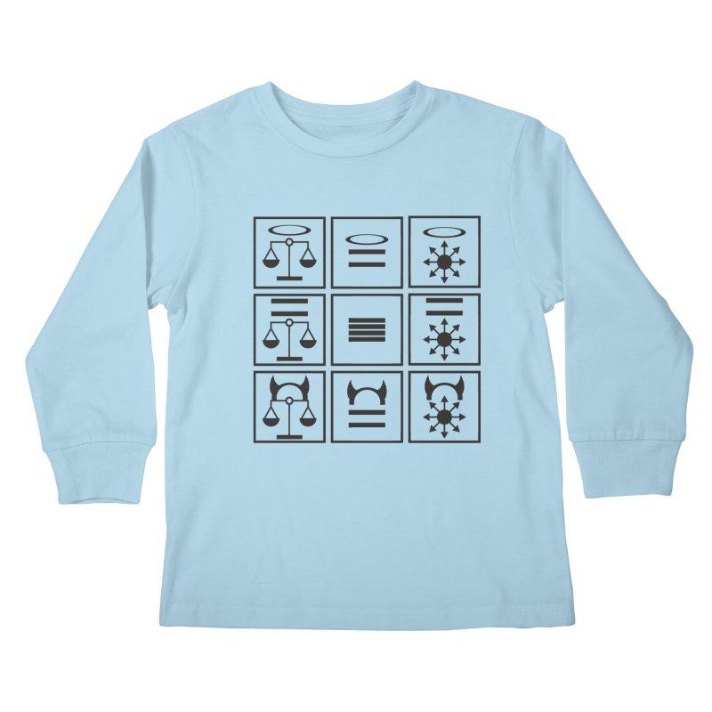Alignment Chart: Black Kids Longsleeve T-Shirt by JordanaHeney Illustration