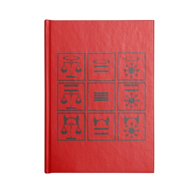 Alignment Chart: Black Accessories Notebook by JordanaHeney Illustration