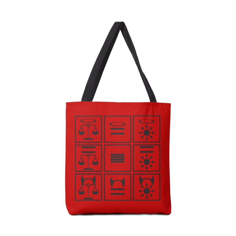 Alignment Chart: Black Accessories Tote Bag Bag by JordanaHeney Illustration