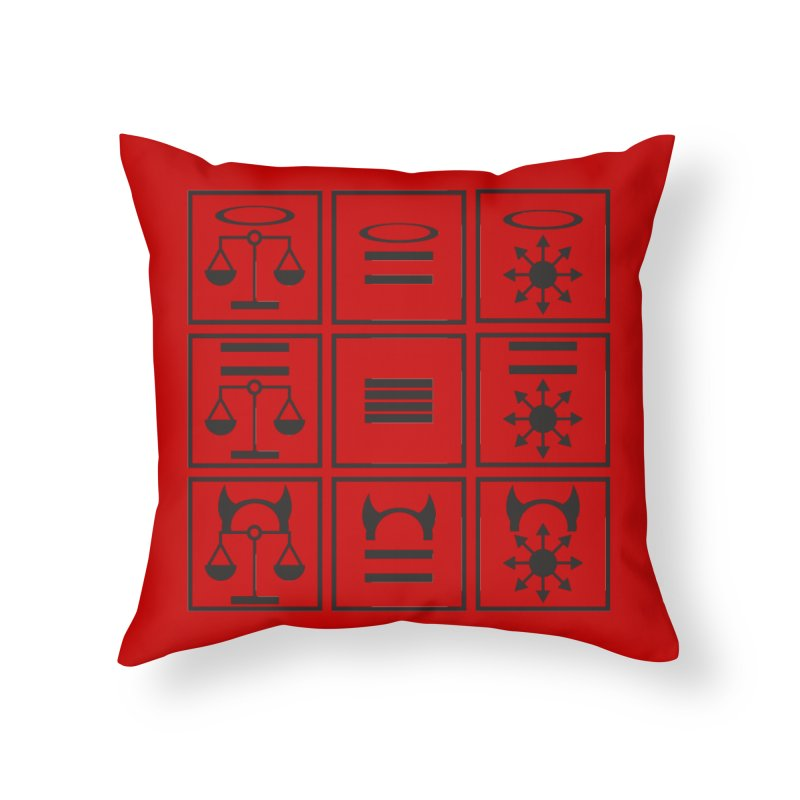 Alignment Chart: Black Home Throw Pillow by JordanaHeney Illustration