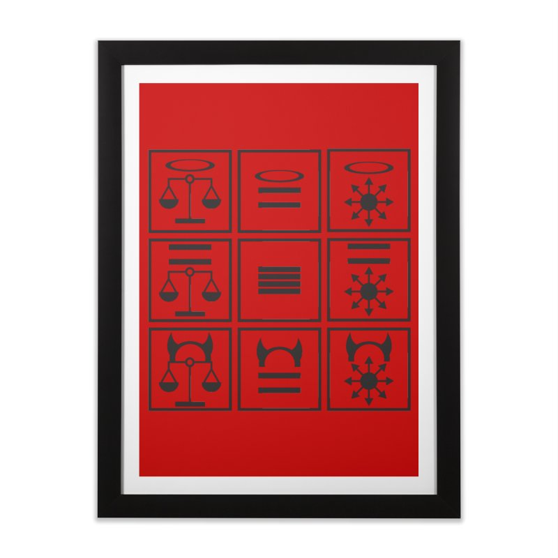 Alignment Chart: Black Home Framed Fine Art Print by JordanaHeney Illustration
