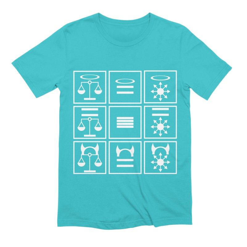 Alignment Chart: White Men's Extra Soft T-Shirt by JordanaHeney Illustration