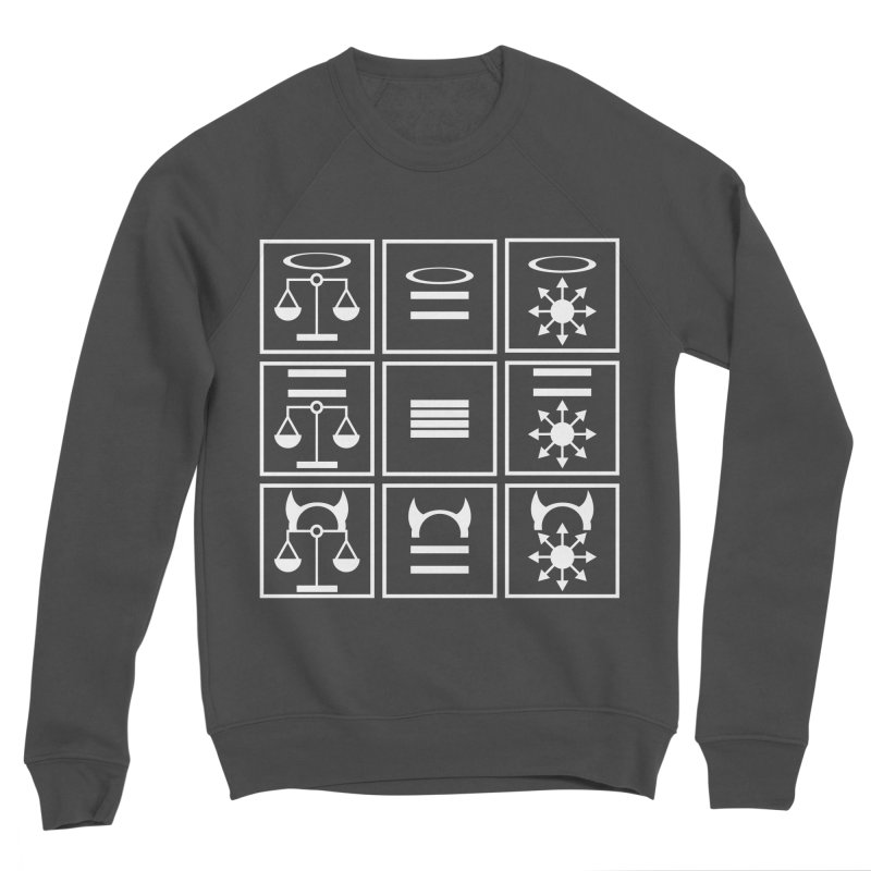 Alignment Chart: White Women's Sponge Fleece Sweatshirt by JordanaHeney Illustration