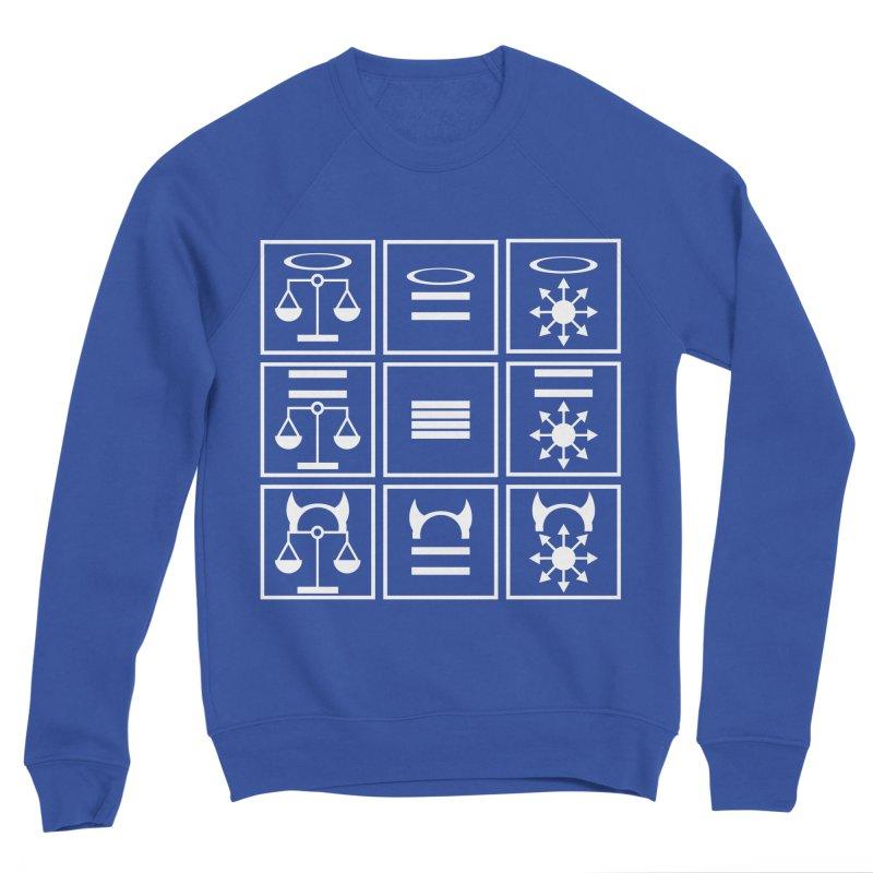 Alignment Chart: White Men's Sponge Fleece Sweatshirt by JordanaHeney Illustration