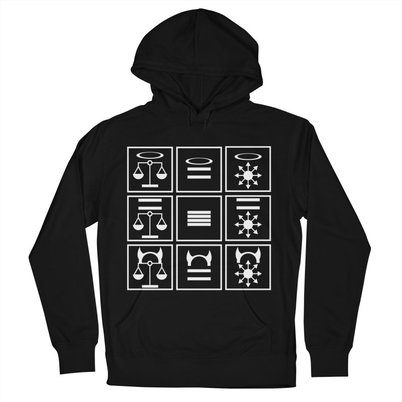 Alignment Chart: White Women's French Terry Pullover Hoody by JordanaHeney Illustration