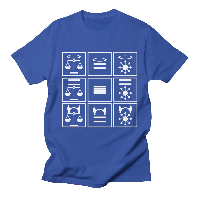 Alignment Chart: White Women's Regular Unisex T-Shirt by JordanaHeney Illustration