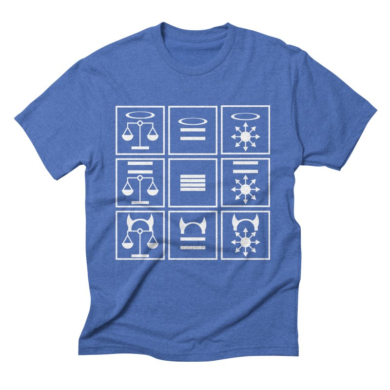 Alignment Chart: White Men's T-Shirt by JordanaHeney Illustration