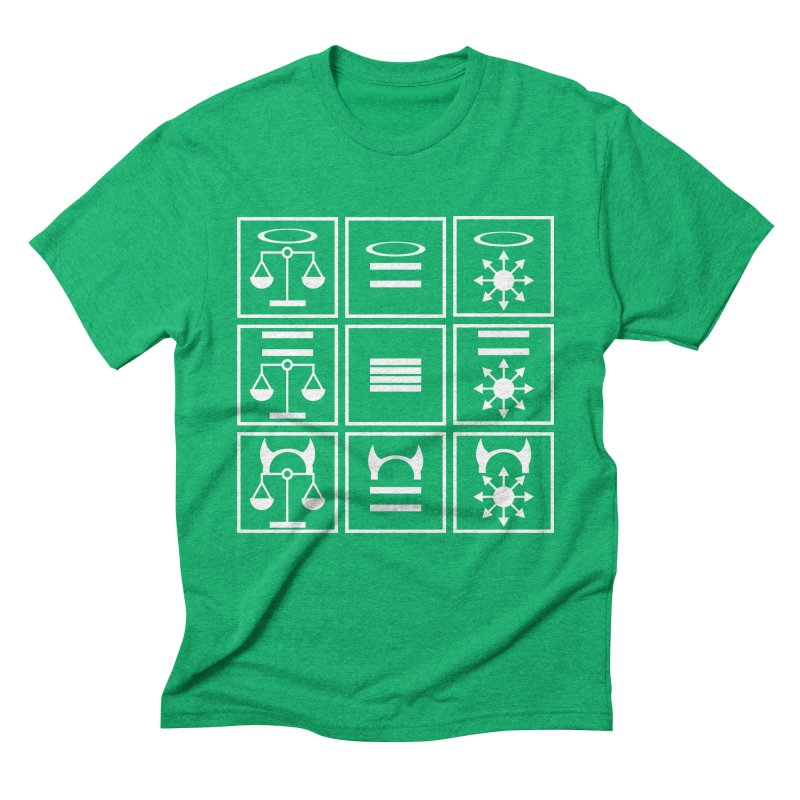 Alignment Chart: White Men's Triblend T-Shirt by JordanaHeney Illustration