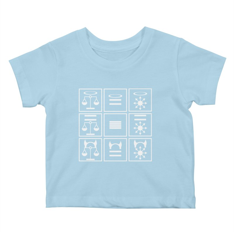 Alignment Chart: White Kids Baby T-Shirt by JordanaHeney Illustration