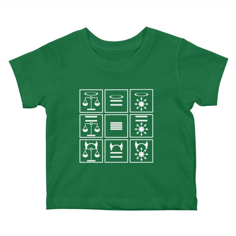 Alignment Chart: White Kids Baby T-Shirt by JordanaHeney Illustration