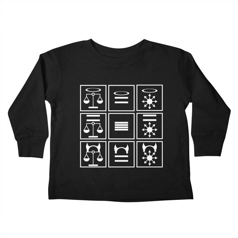 Alignment Chart: White Kids Toddler Longsleeve T-Shirt by JordanaHeney Illustration