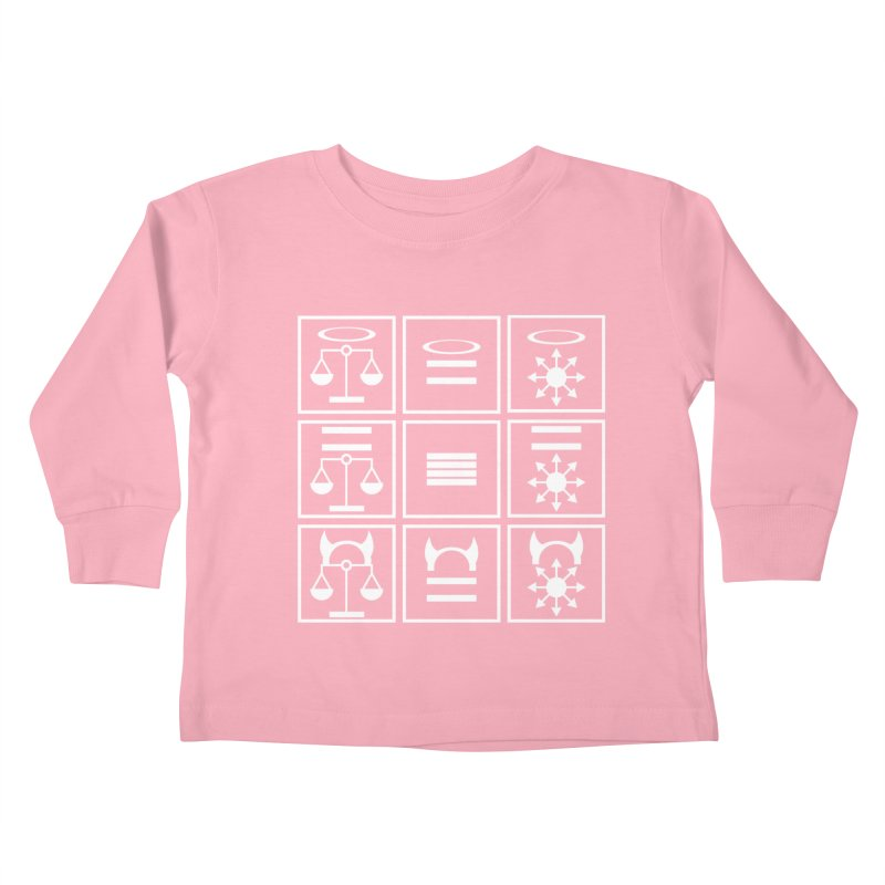 Alignment Chart: White Kids Toddler Longsleeve T-Shirt by JordanaHeney Illustration
