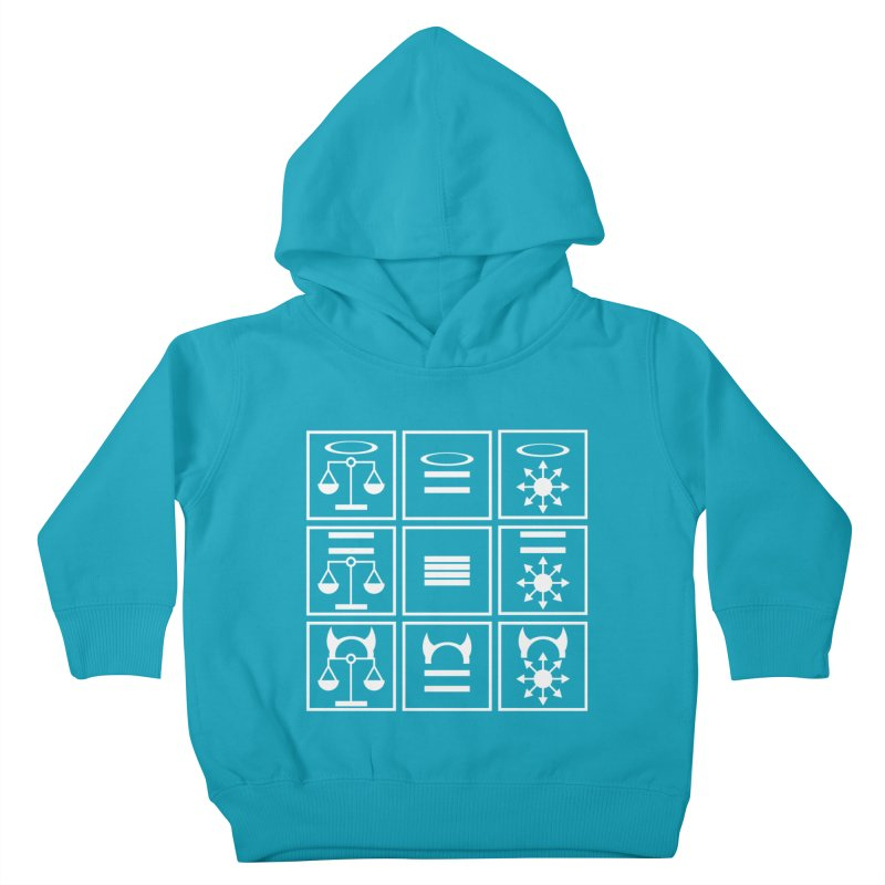 Alignment Chart: White Kids Toddler Pullover Hoody by JordanaHeney Illustration