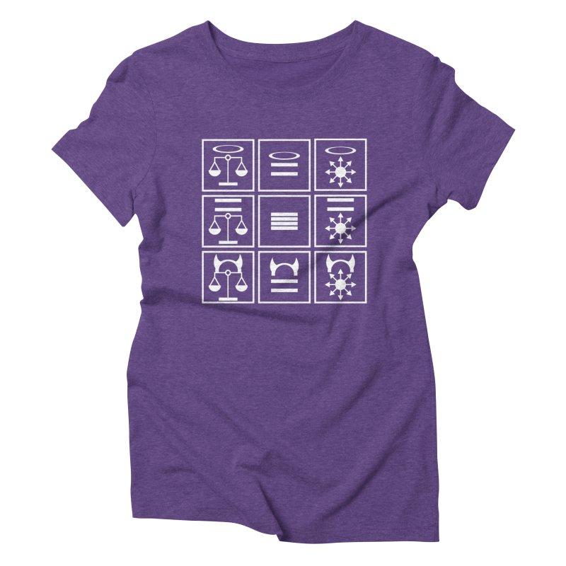 Alignment Chart: White Women's Triblend T-Shirt by JordanaHeney Illustration