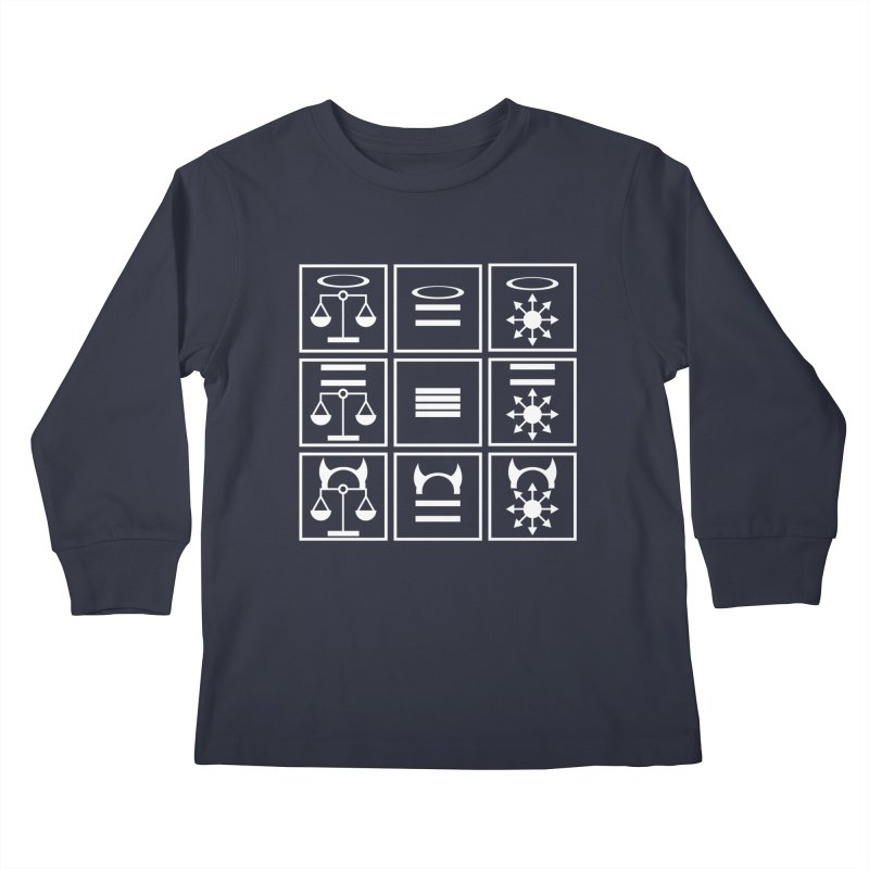 Alignment Chart: White Kids Longsleeve T-Shirt by JordanaHeney Illustration