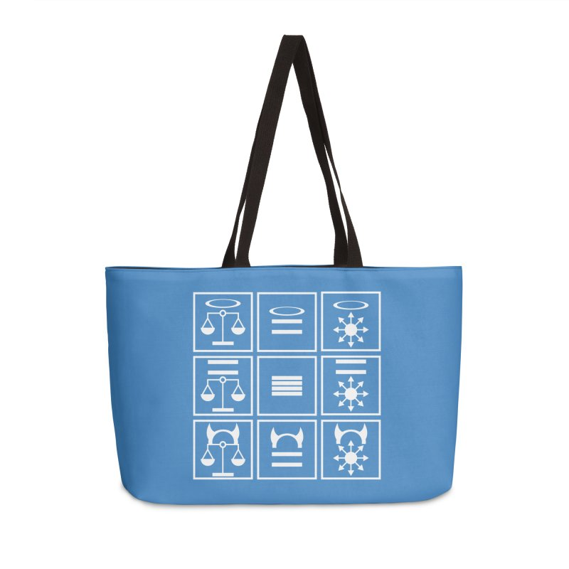 Alignment Chart: White Accessories Weekender Bag Bag by JordanaHeney Illustration