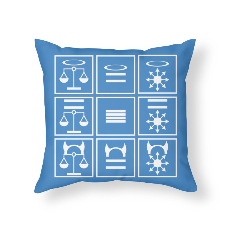 Alignment Chart: White Home Throw Pillow by JordanaHeney Illustration