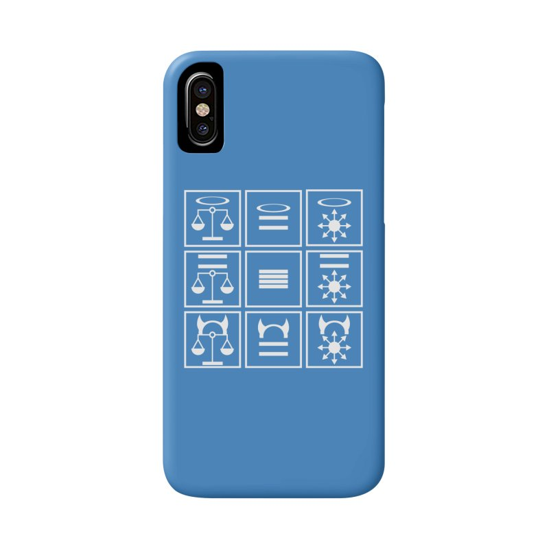 Alignment Chart: White Accessories Phone Case by JordanaHeney Illustration