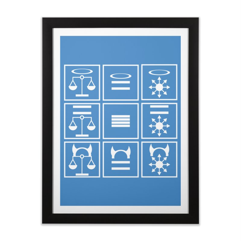 Alignment Chart: White Home Framed Fine Art Print by JordanaHeney Illustration