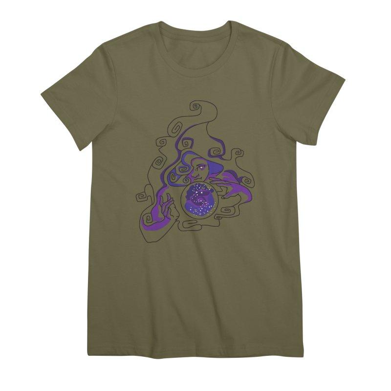 Crystal Baller Women's Premium T-Shirt by JordanaHeney Illustration