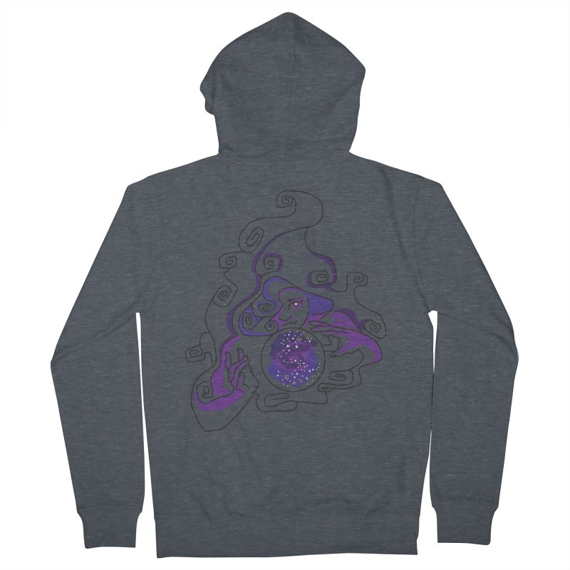 Crystal Baller Women's French Terry Zip-Up Hoody by JordanaHeney Illustration