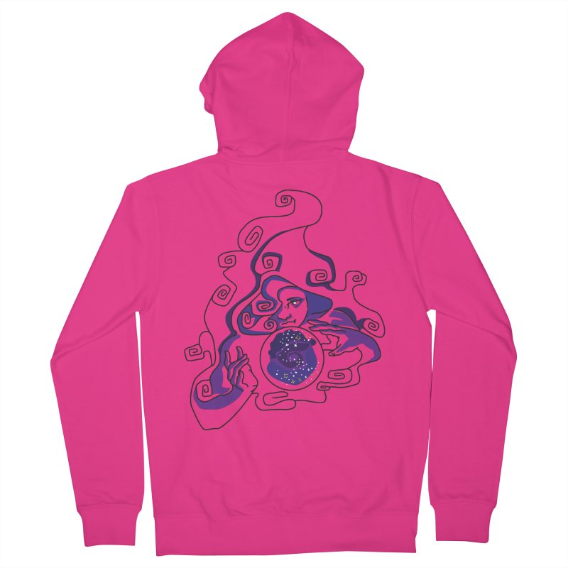 Crystal Baller Men's French Terry Zip-Up Hoody by JordanaHeney Illustration
