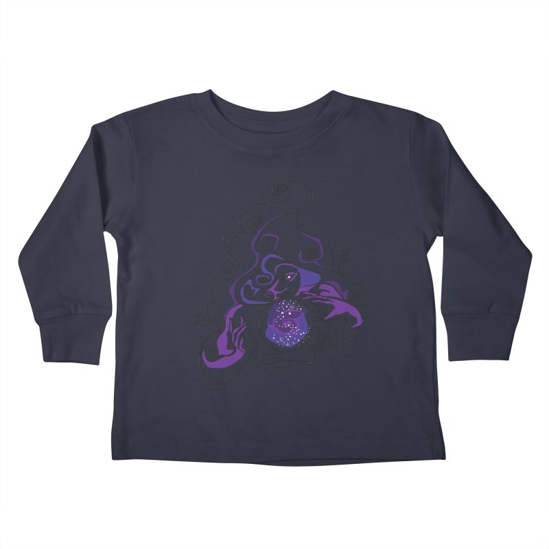 Crystal Baller Kids Toddler Longsleeve T-Shirt by JordanaHeney Illustration