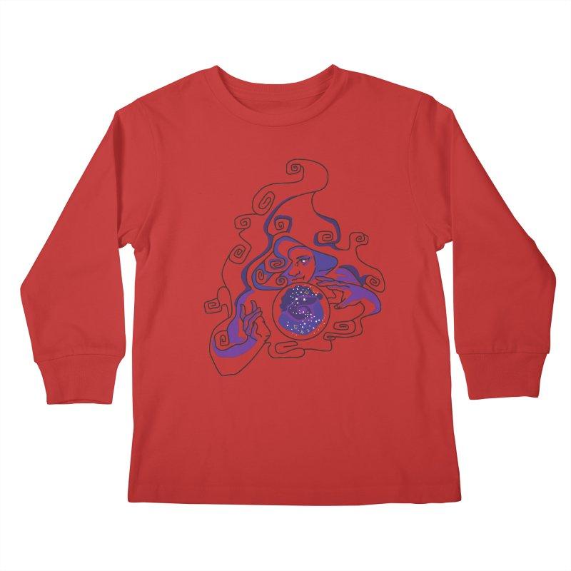 Crystal Baller Kids Longsleeve T-Shirt by JordanaHeney Illustration