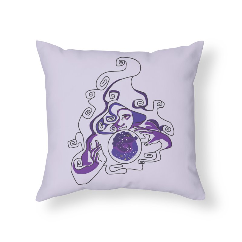 Crystal Baller Home Throw Pillow by JordanaHeney Illustration