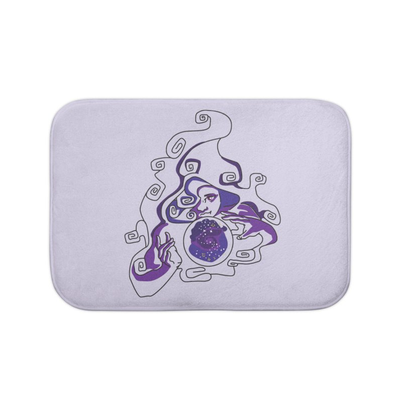 Crystal Baller Home Bath Mat by JordanaHeney Illustration