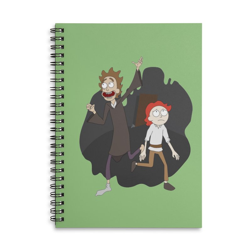 Arcanists Accessories Lined Spiral Notebook by JordanaHeney Illustration
