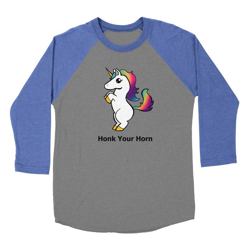 Honk Your Horn Women's Baseball Triblend Longsleeve T-Shirt by JordanaHeney Illustration