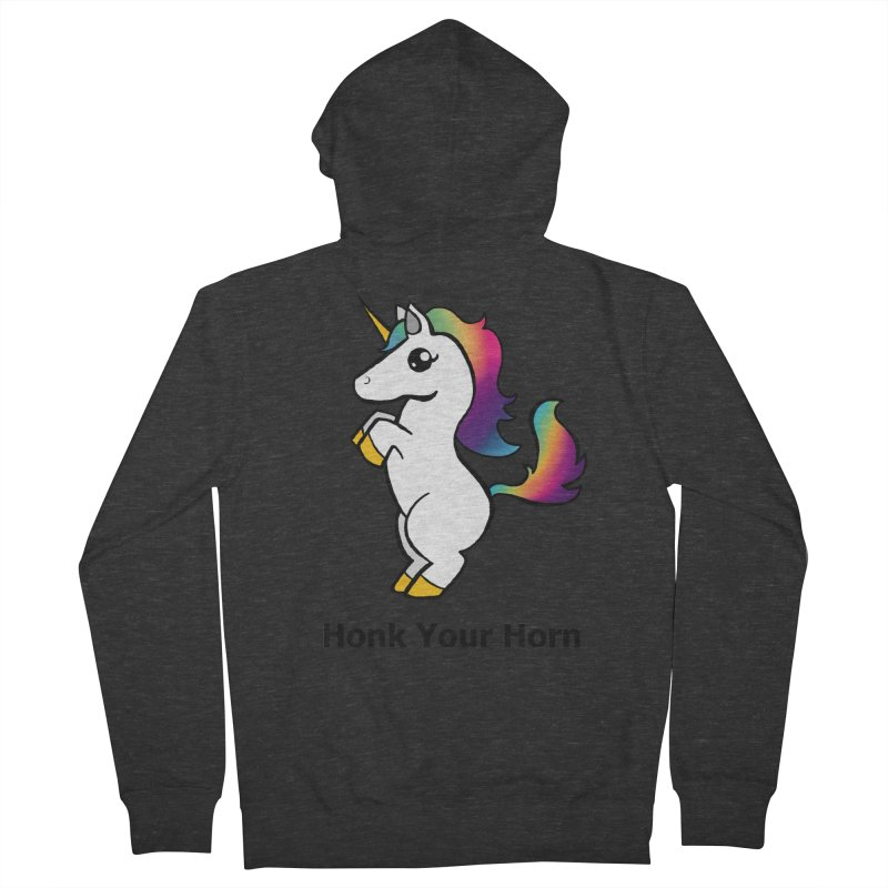 Honk Your Horn Men's French Terry Zip-Up Hoody by JordanaHeney Illustration