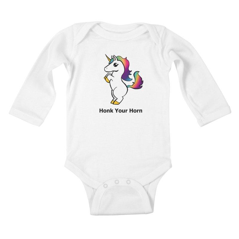 Honk Your Horn Kids Baby Longsleeve Bodysuit by JordanaHeney Illustration