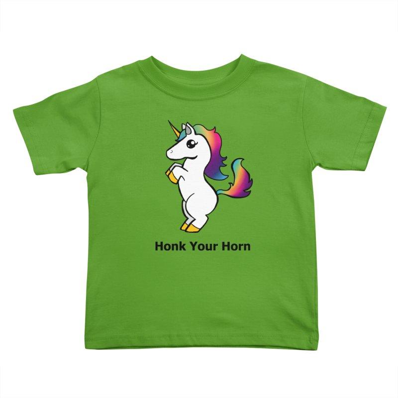 Honk Your Horn Kids Toddler T-Shirt by JordanaHeney Illustration