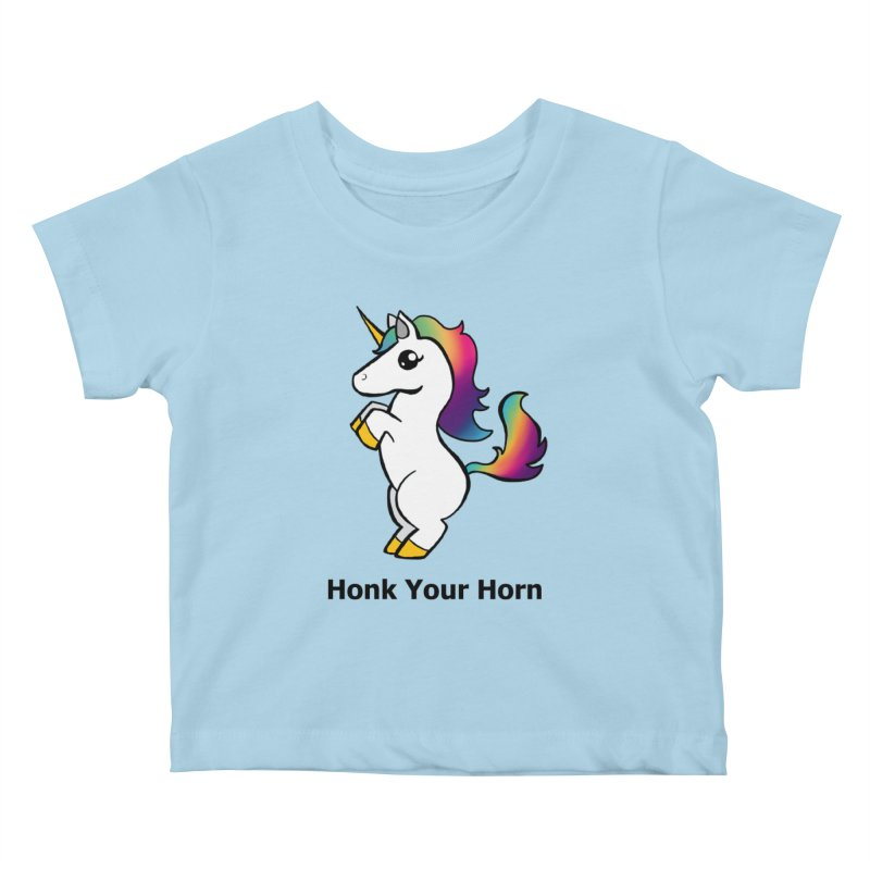 Honk Your Horn Kids Baby T-Shirt by JordanaHeney Illustration