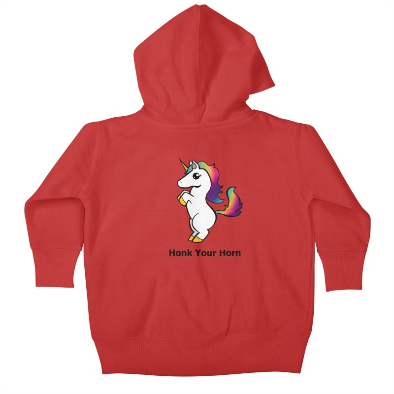 Honk Your Horn Kids Baby Zip-Up Hoody by JordanaHeney Illustration