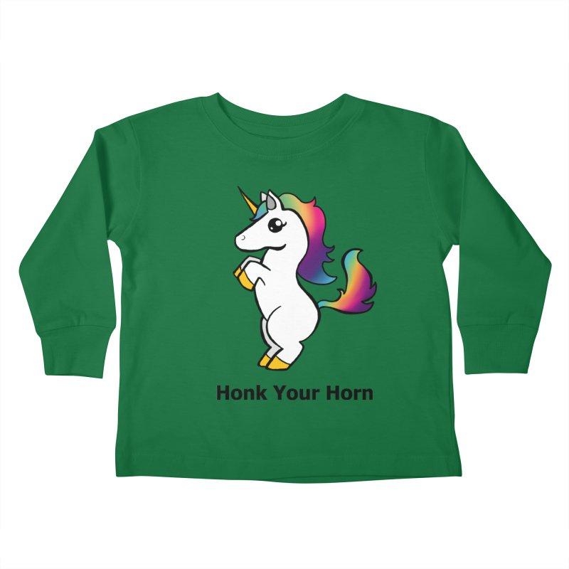 Honk Your Horn Kids Toddler Longsleeve T-Shirt by JordanaHeney Illustration