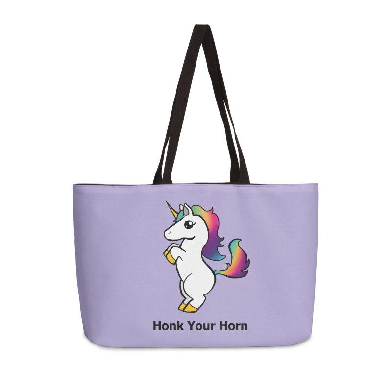 Honk Your Horn Accessories Weekender Bag Bag by JordanaHeney Illustration