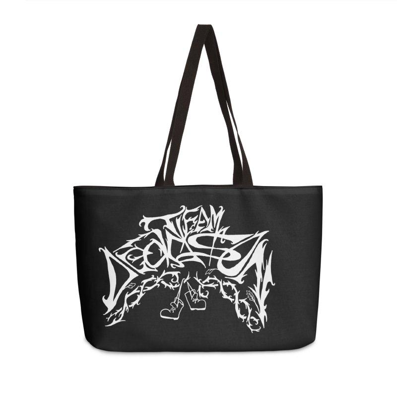 Nick & Jeremy's Band Shirt Accessories Weekender Bag Bag by JordanaHeney Illustration