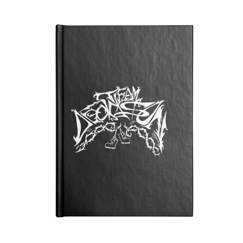 Nick & Jeremy's Band Shirt Accessories Lined Journal Notebook by JordanaHeney Illustration